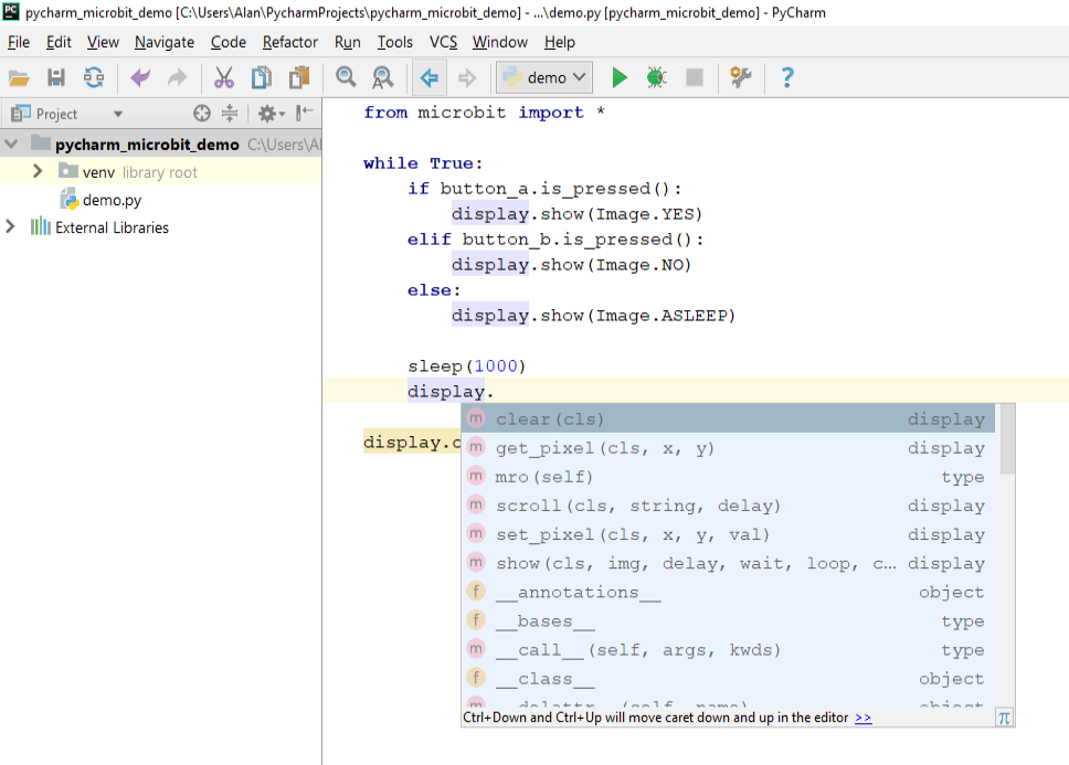 Working With PyCharm - Using PyCharm To Program The micro:bit